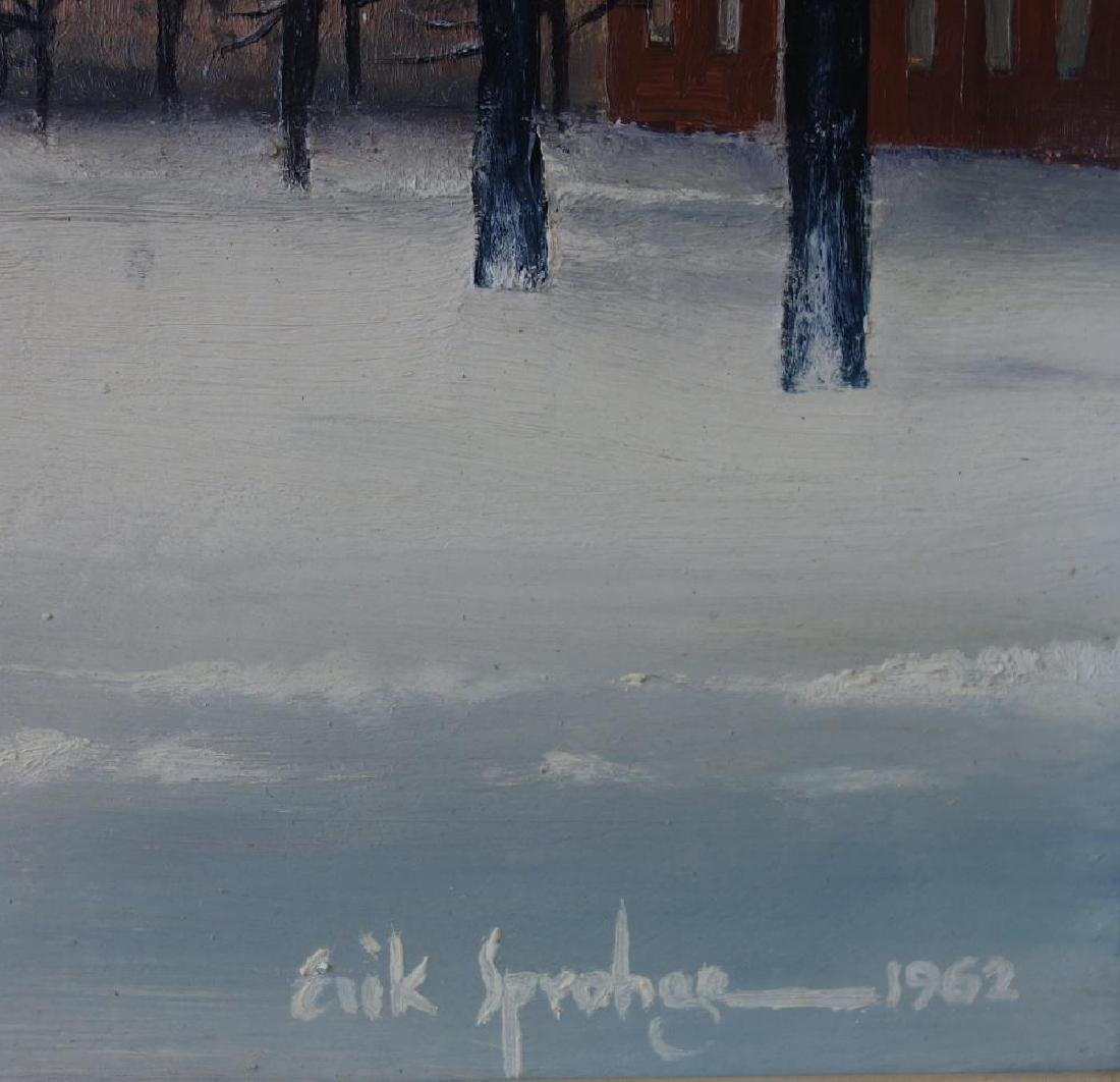 Erik Sprohge (b-1932) Harvard University in Winter - 3