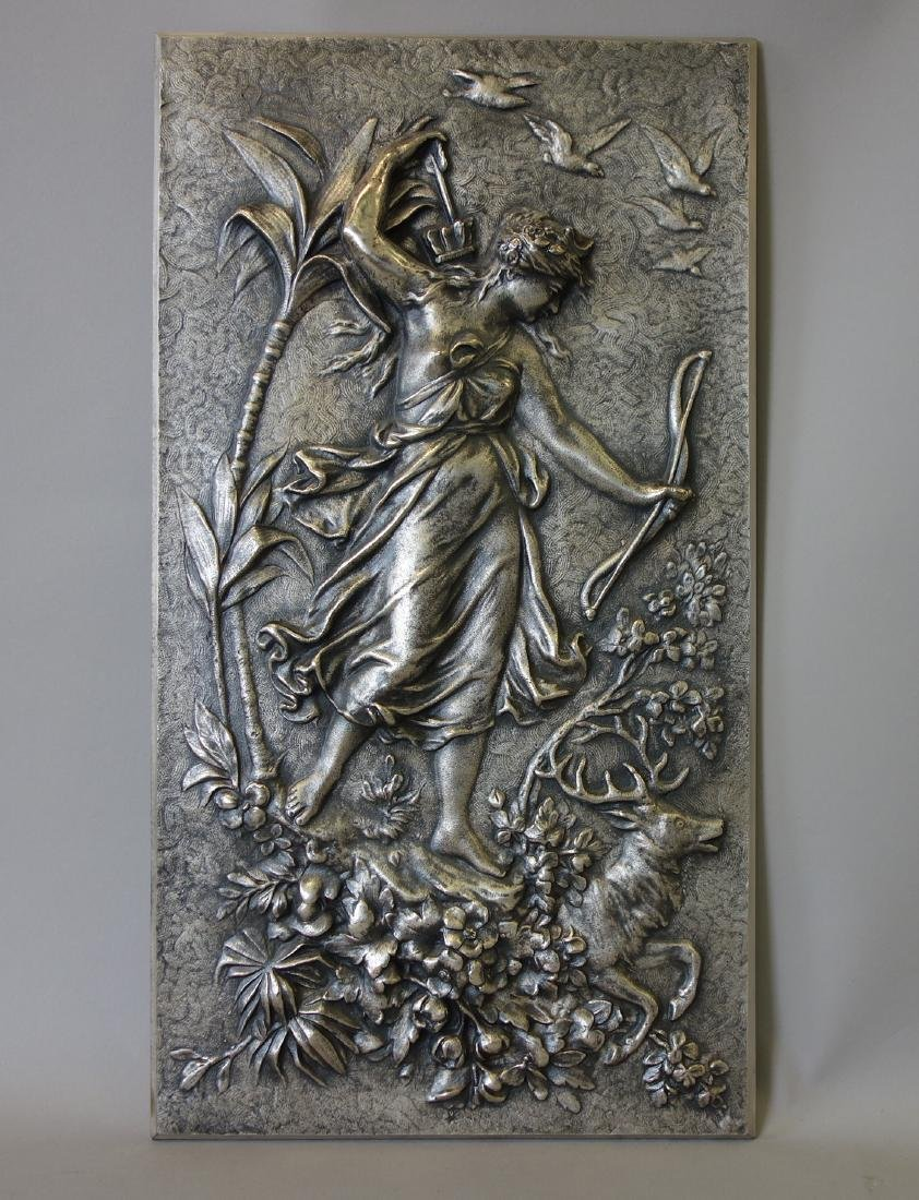 Diana the Huntress, Silvered Metal Plaque