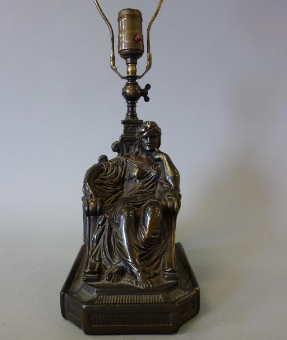 Armor Bronze Figural Table Lamp, New York