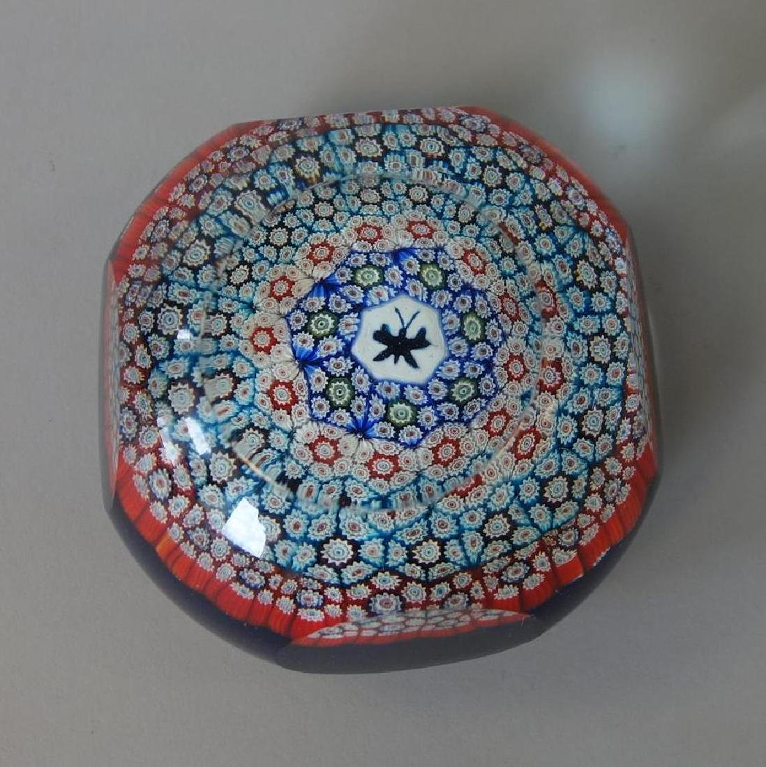 Whitefriars Millefiori Faceted Glass Paperweight