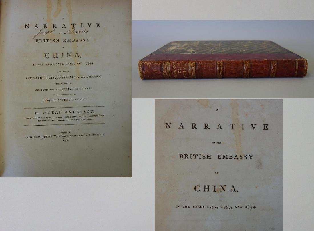 British Embassy to China, Years, 1792,1793, & 1794