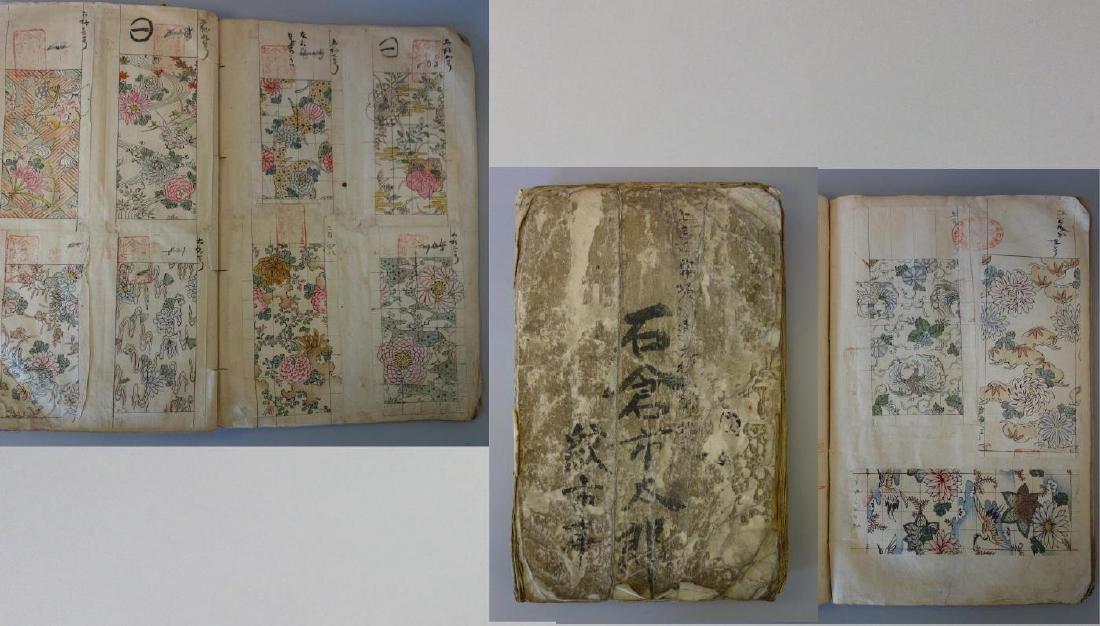 Japanese Textile Fabric Pattern Book, Meiji Era