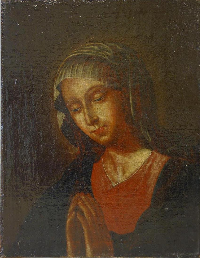 18th / 19thc Portrait of Madonna, The Virgin Mary
