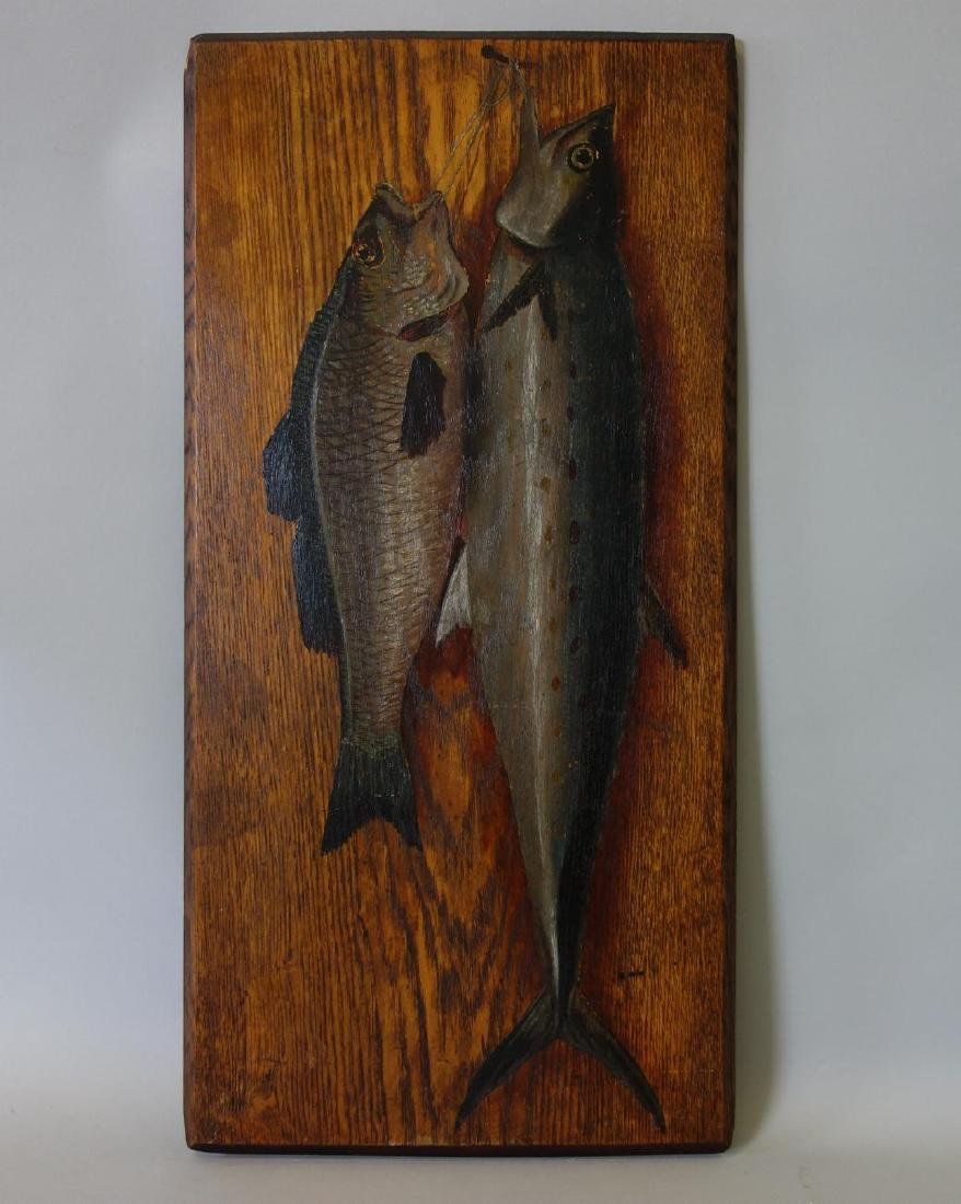 American School, Oil on Wood Panel, Trout