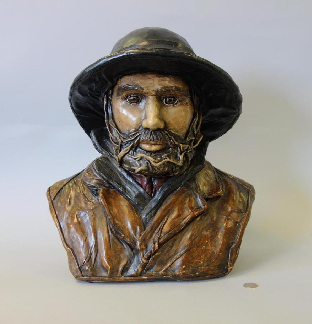 Teresa Corning (20thc) Fisherman Sculpture