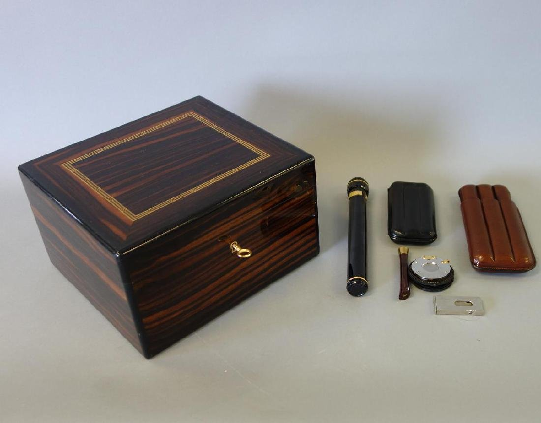 Dunhill Rosewood Cigar Humidor & Accessories