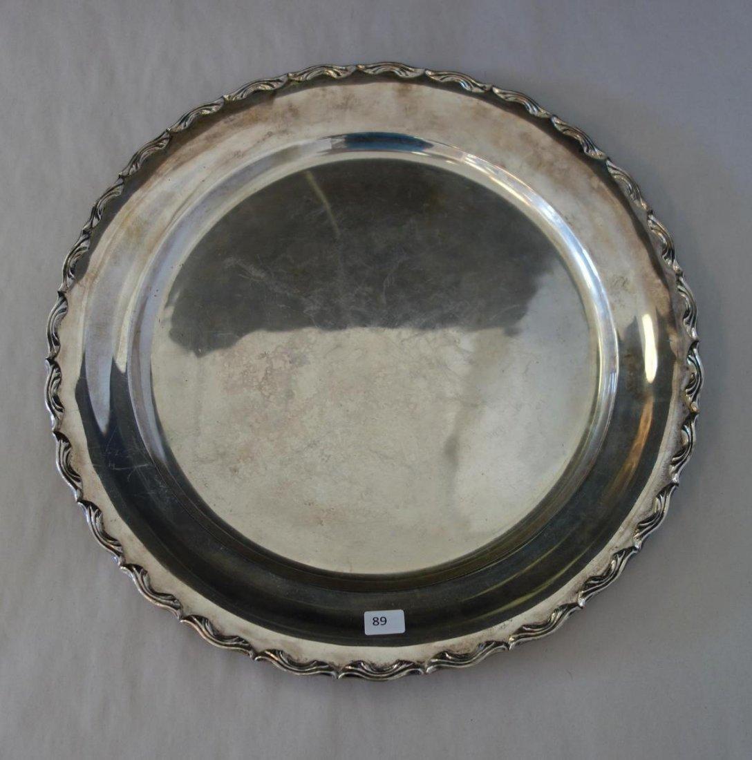 Egyptian 800 Silver Serving Platter
