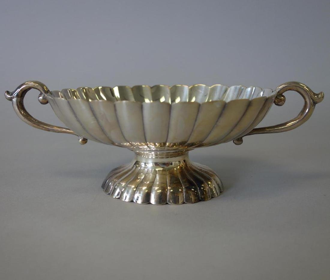 Sterling 950 Scalloped Footed Candy Bowl
