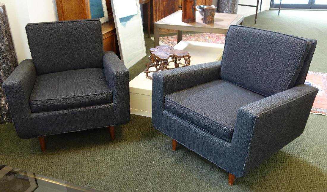 Florence Knoll Mid-Century Club Chairs (Pair)