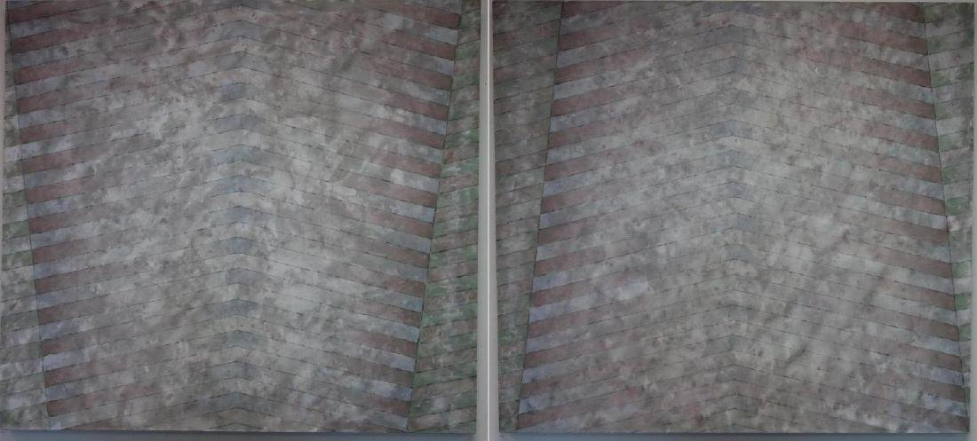 Paul Heald (1936-2014) Large Abstract Diptych