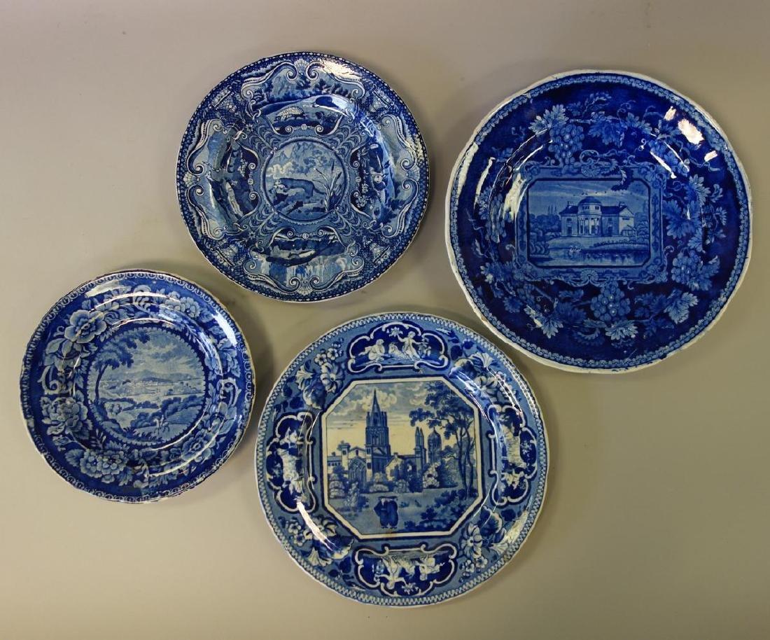 4-19thc Staffordshire Historical Plates, DC +