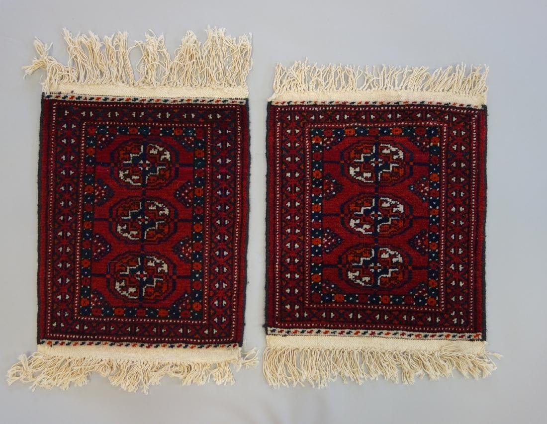 2 Turkoman Wool Rug / Mats