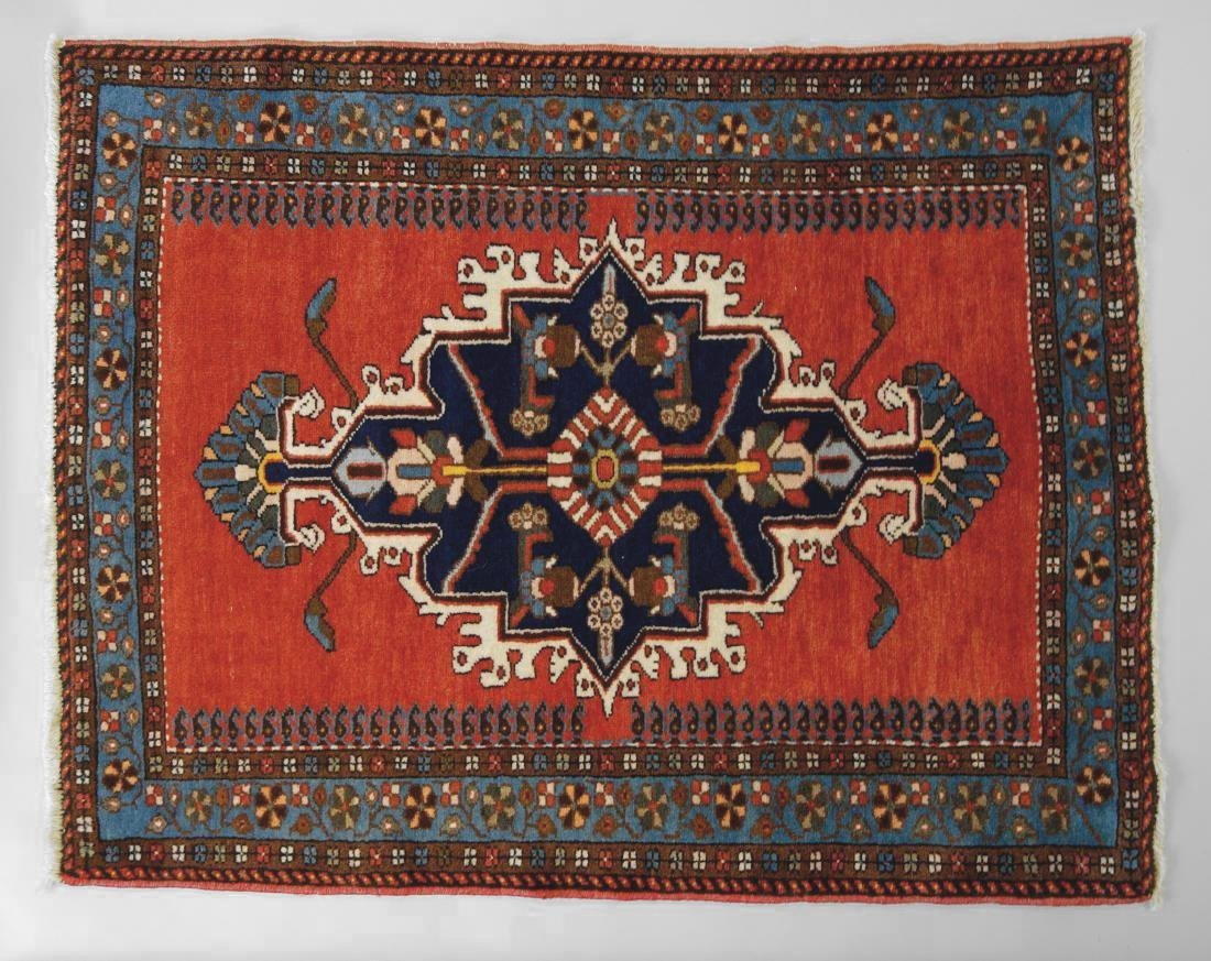 Persian Hand-Knotted Wool Rug