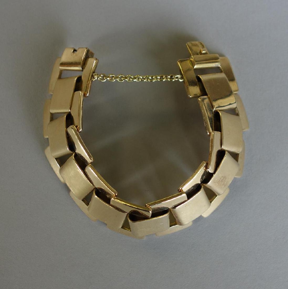 French 18K Gold Link Bracelet, 111.2 grams