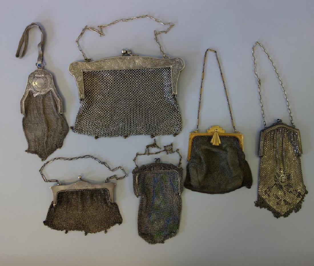 6 Art Deco Mesh Purses, Whiting & Davis +