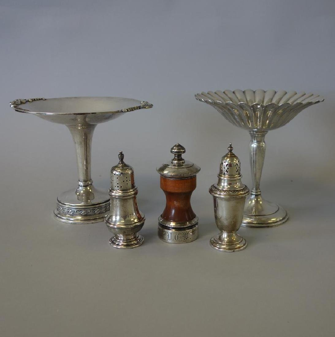 Sterling Compotes, Sugar & Pepper Shakers