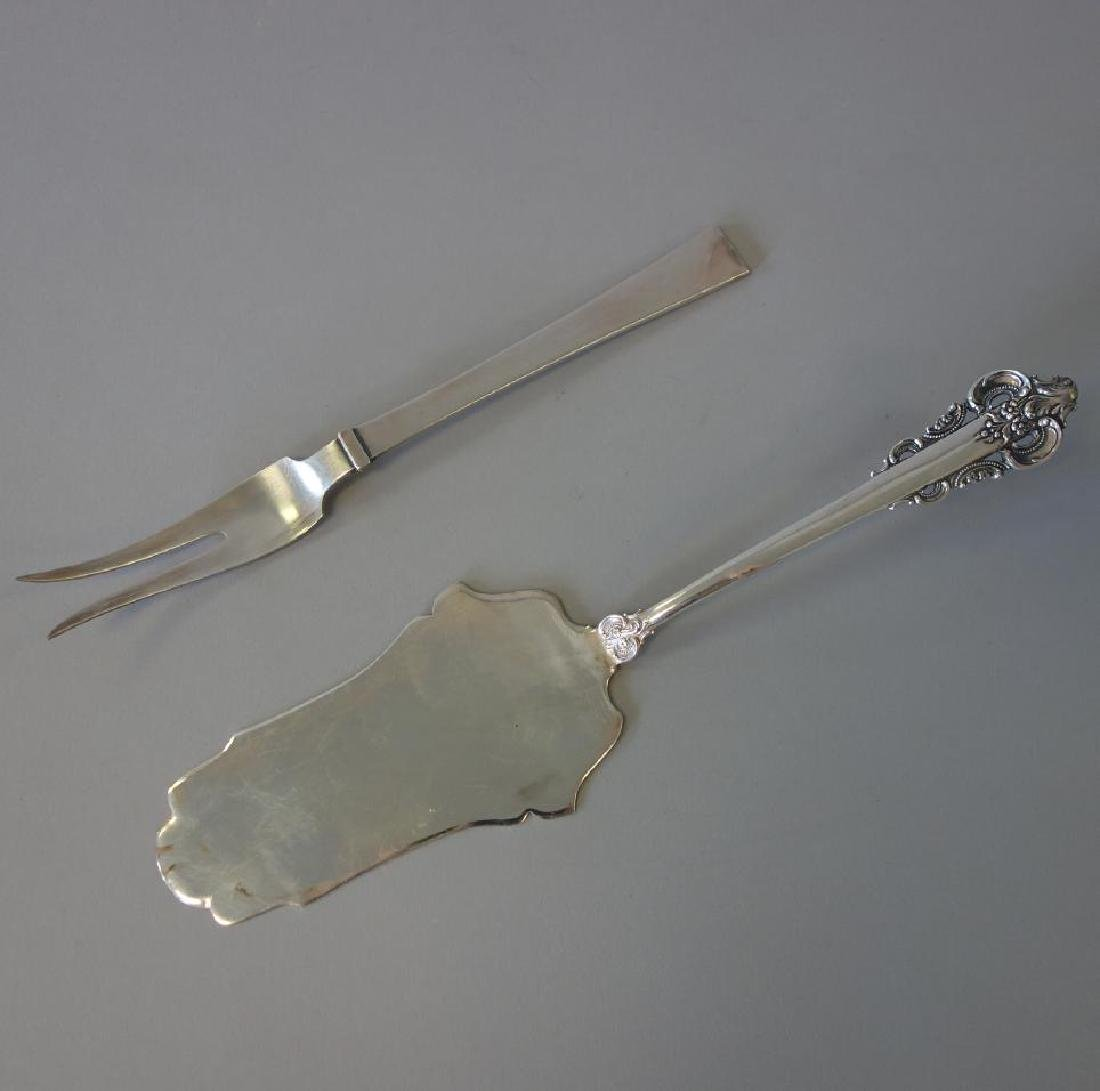 Danish Sterling Meat Fork & Server, Camusso, Peru