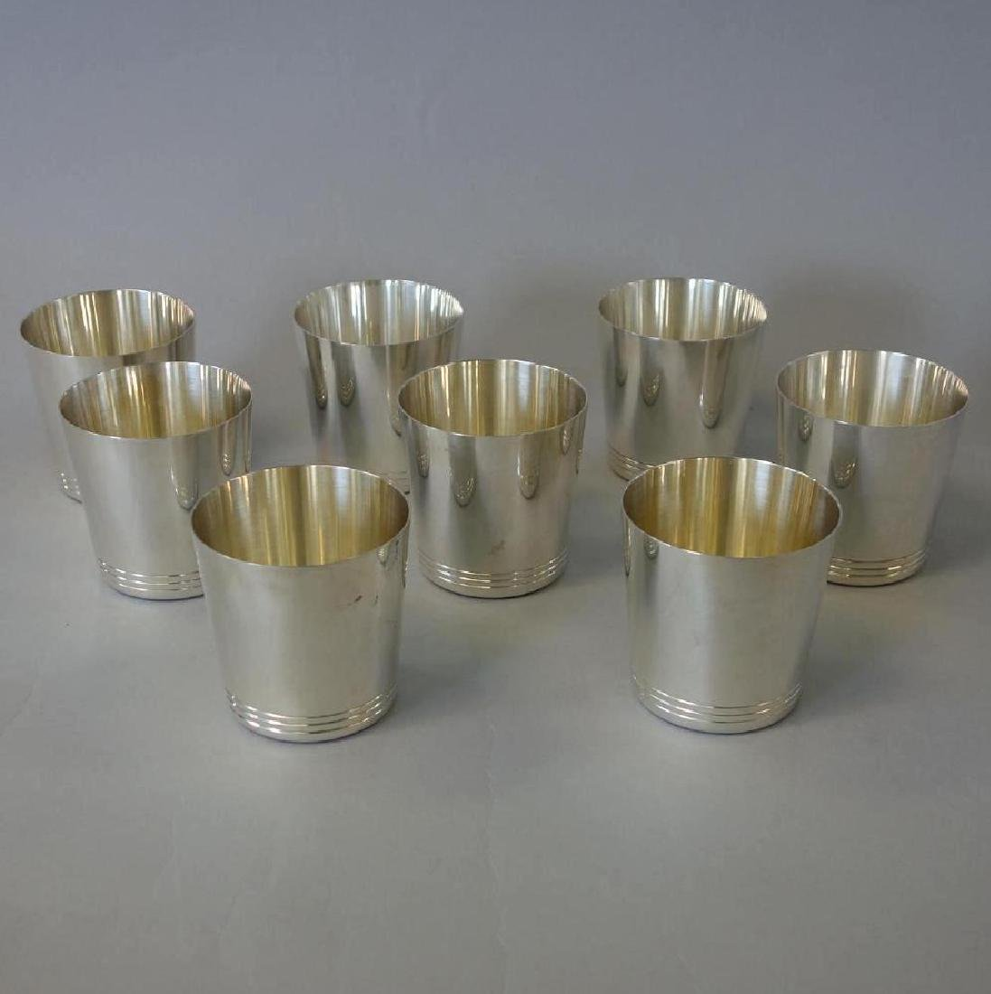 8 Tiffany & Co Sterling Whiskey Tumblers