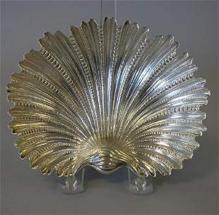Buccellati Sterling Scalloped Shell Dish, Italy