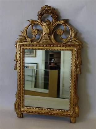 19thc Italian Neoclassical Gilt-Wood Mirror