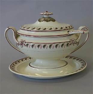 Wedgwood Queens Ware Soup Tureen, Stand & Ladle