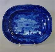 19th Staffordshire Platter, Custom House, London