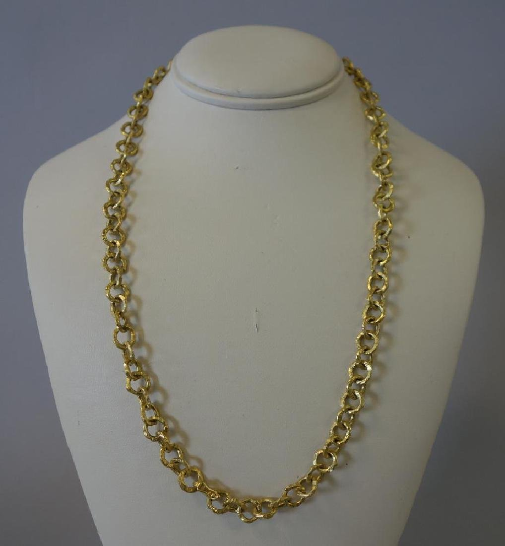 Italian 18K Gold Necklace & Bracelet - 2