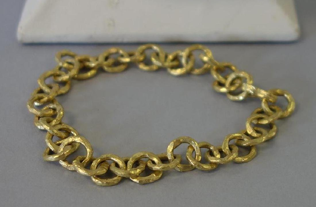 Italian 18K Gold Necklace & Bracelet - 3