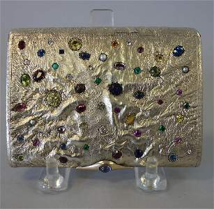 Russian Samorodok Jeweled Case, V. Gordon