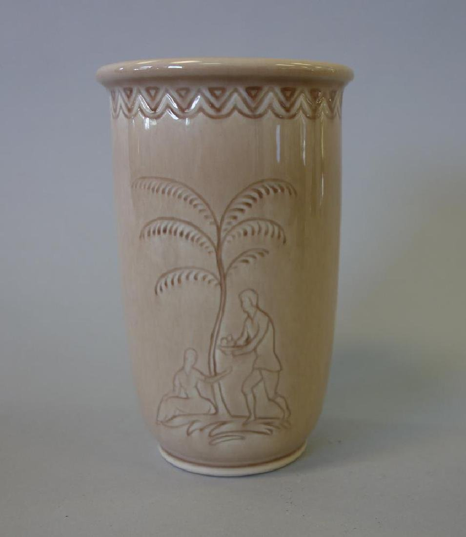 Decorated Rookwood Vase & Bowl - 3