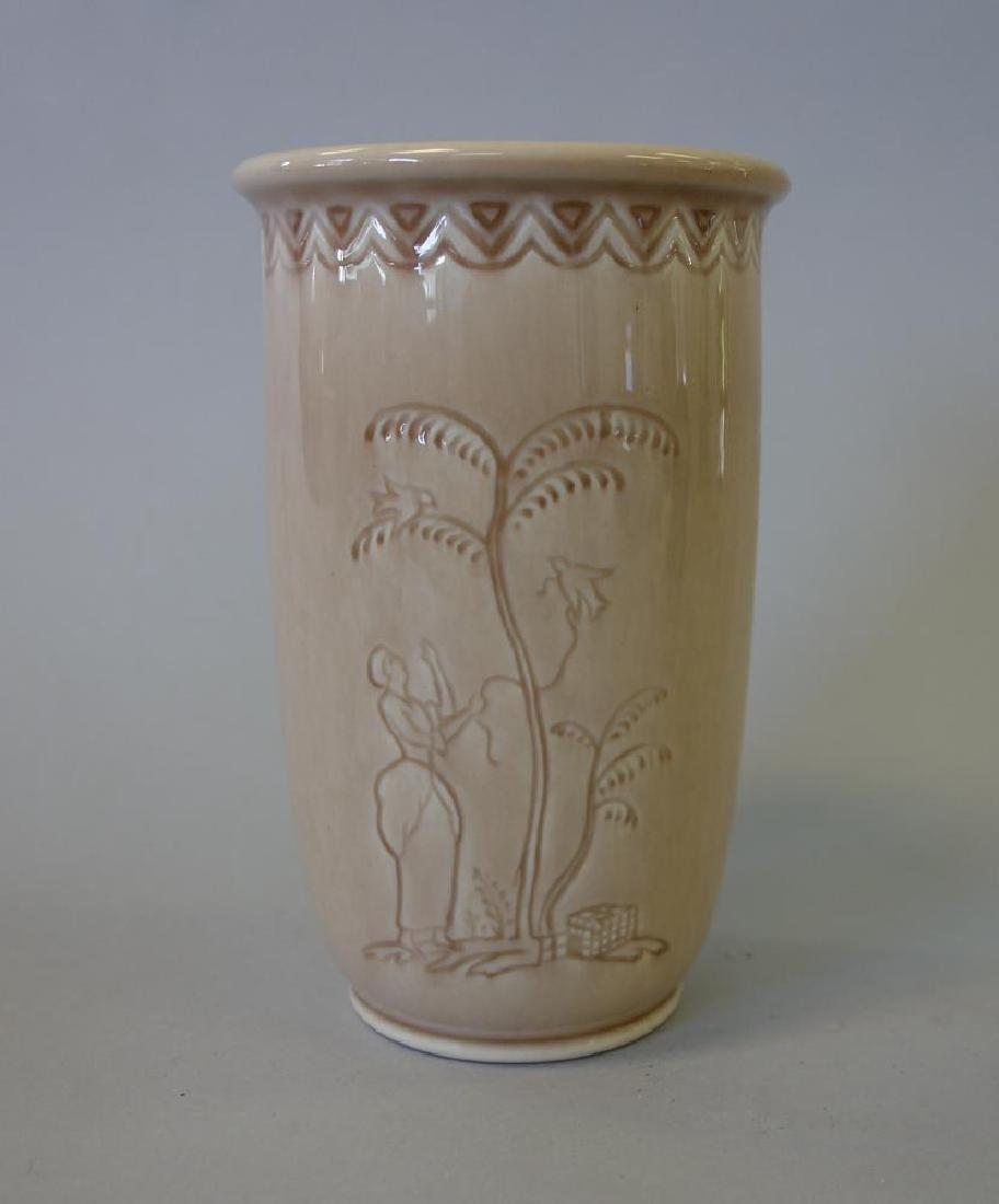 Decorated Rookwood Vase & Bowl - 4