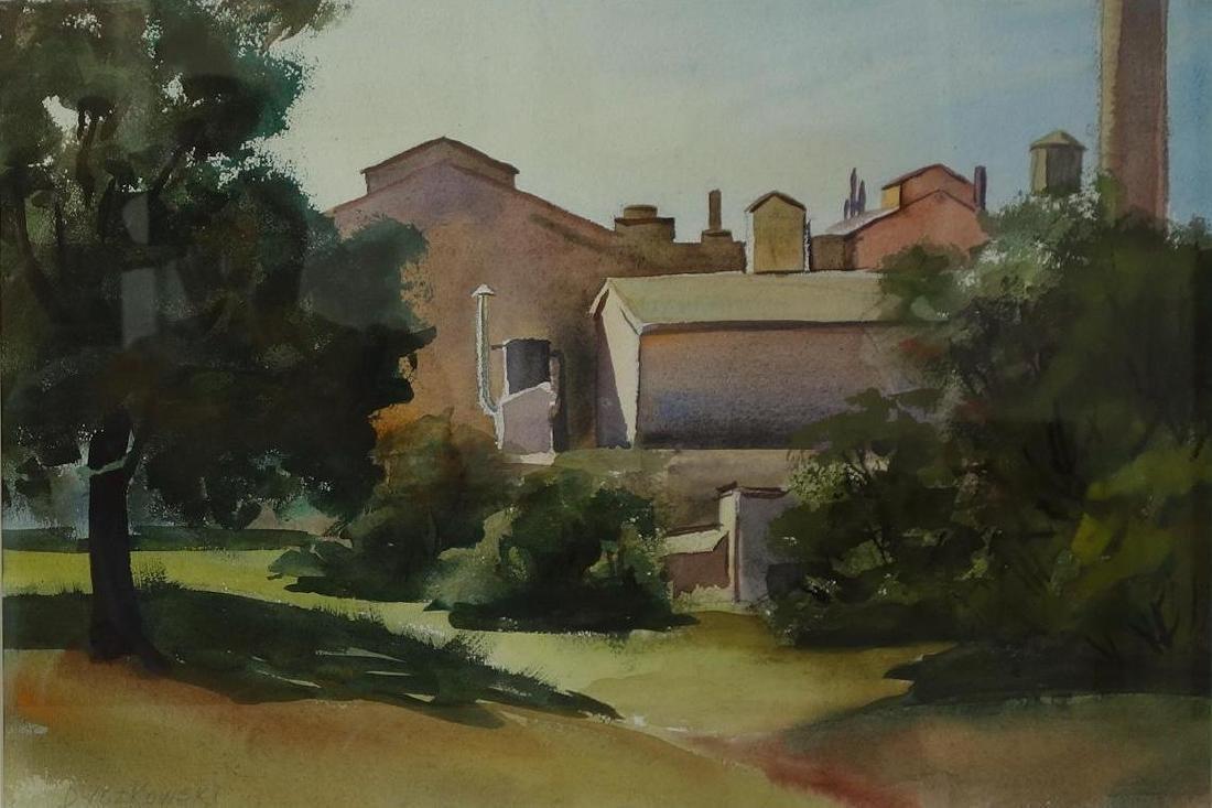 Eugene Dyczkowski (1899-1987) Industrial Scene