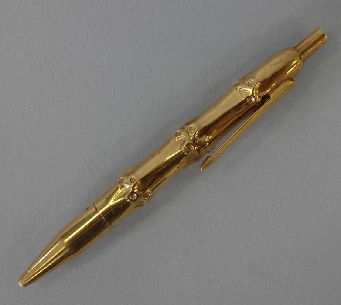 Cartier 18K Gold Bamboo Pen
