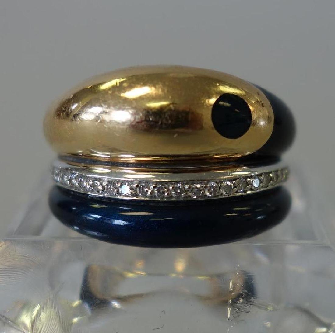 La Nouvelle Bague, 18K Gold, Diamond & Enamel Ring - 2
