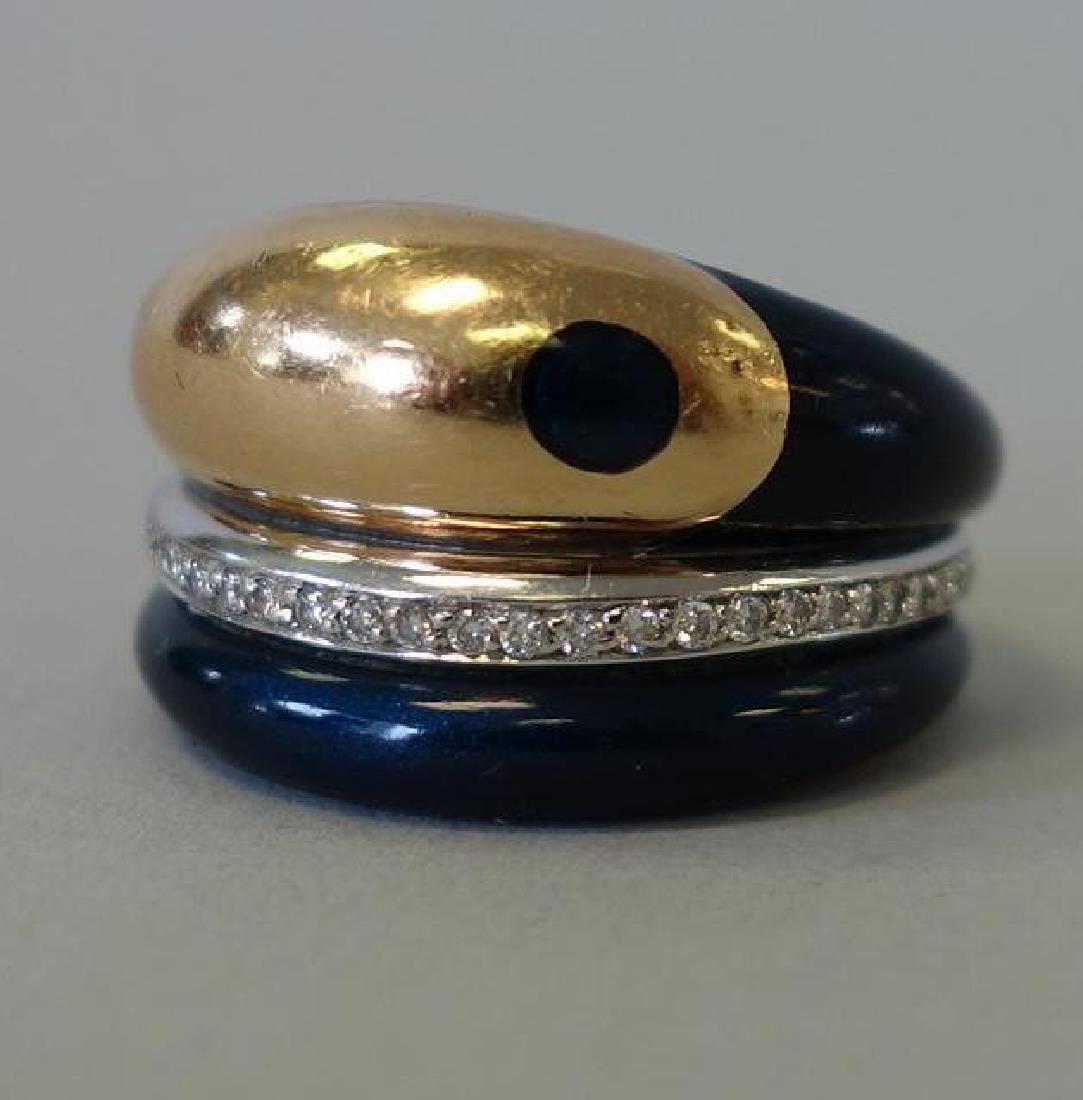 La Nouvelle Bague, 18K Gold, Diamond & Enamel Ring - 3