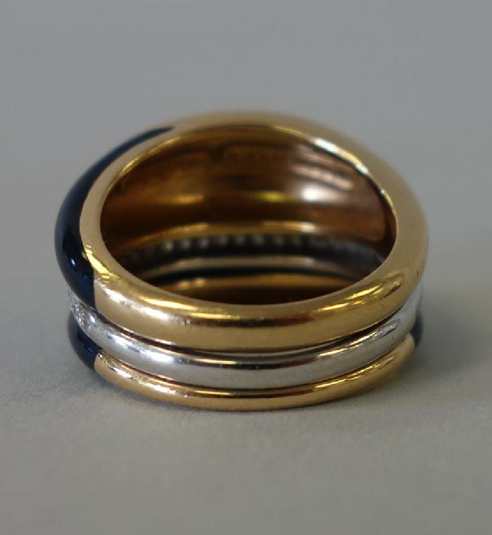 La Nouvelle Bague, 18K Gold, Diamond & Enamel Ring - 5