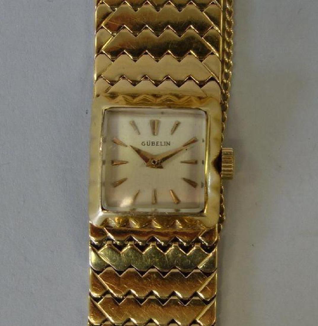 Gubelin 18K Gold Ladies Watch & Bracelet Band