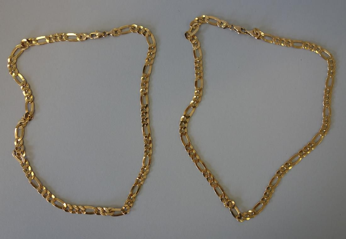14K Gold Multi-Link Necklace / Dbl Necklace, Italy