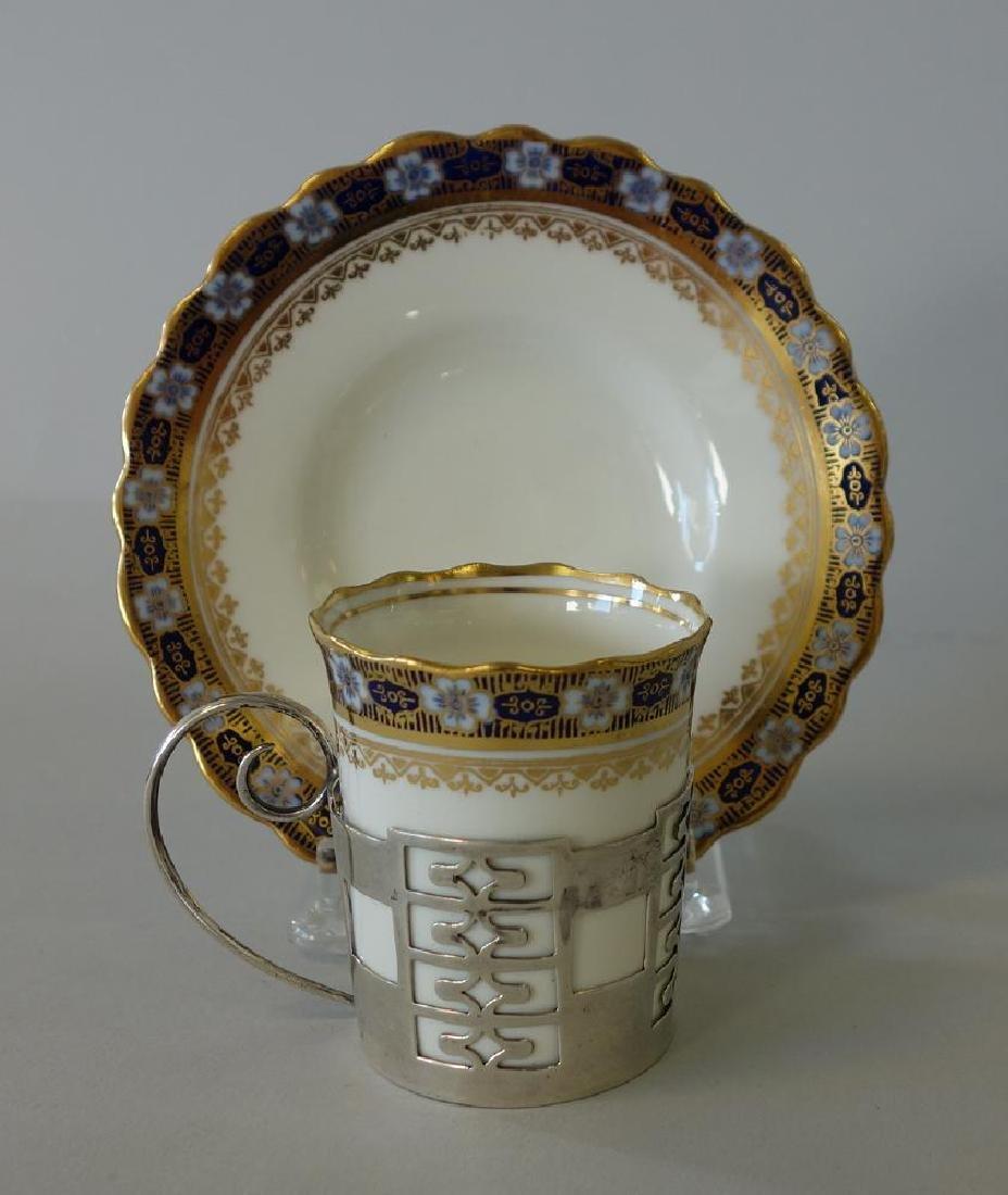 Aynsley Porcelain Sterling Demitasse, Set of 6 - 2