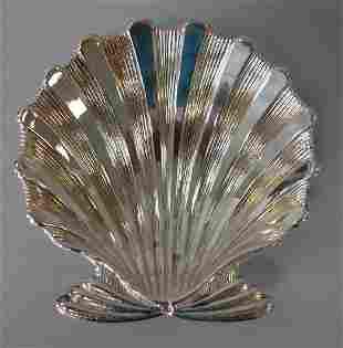 Buccellati Italian Sterling Scalloped Shell Dish
