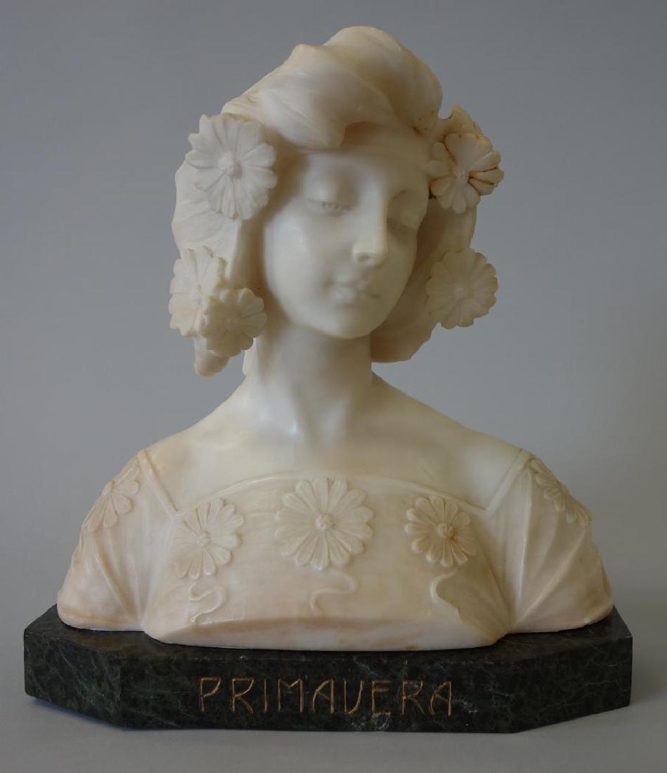 19thc Art Nouveau Marble Sculpture, Primavera