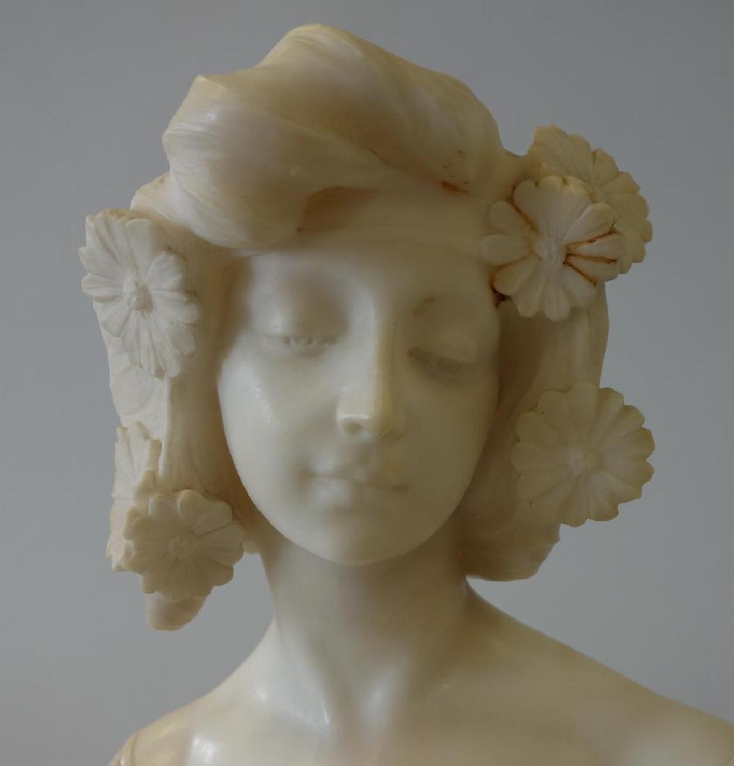 19thc Art Nouveau Marble Sculpture, Primavera - 2