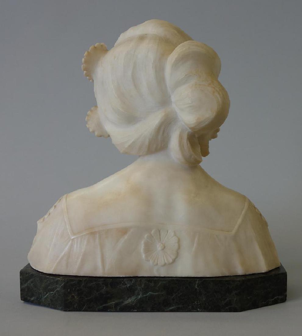 19thc Art Nouveau Marble Sculpture, Primavera - 3