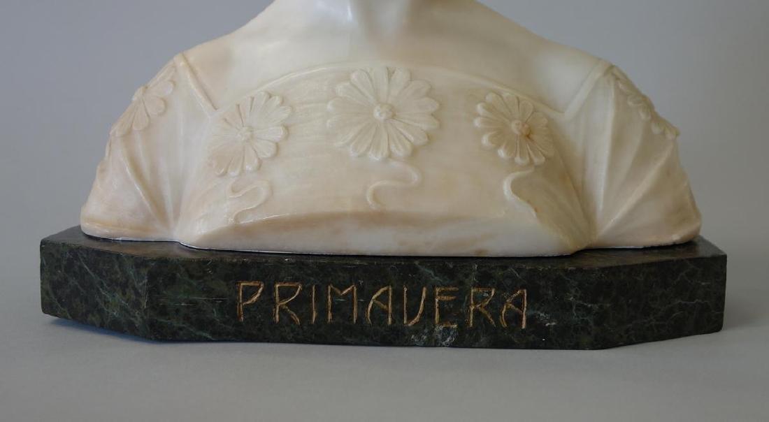 19thc Art Nouveau Marble Sculpture, Primavera - 4