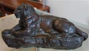 Barye Bronze, Cast by Henry-Bonnard, NY 1890