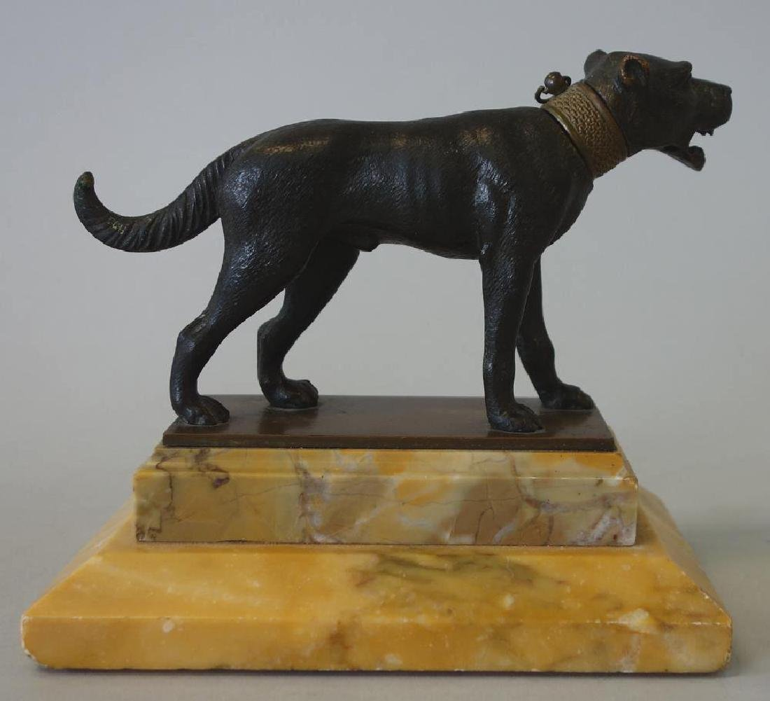 19thc Bronze Model of a Hunting / Guard Dog - 2