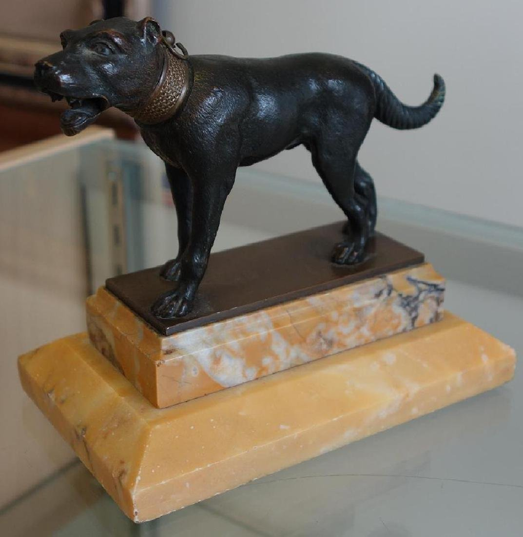 19thc Bronze Model of a Hunting / Guard Dog - 3