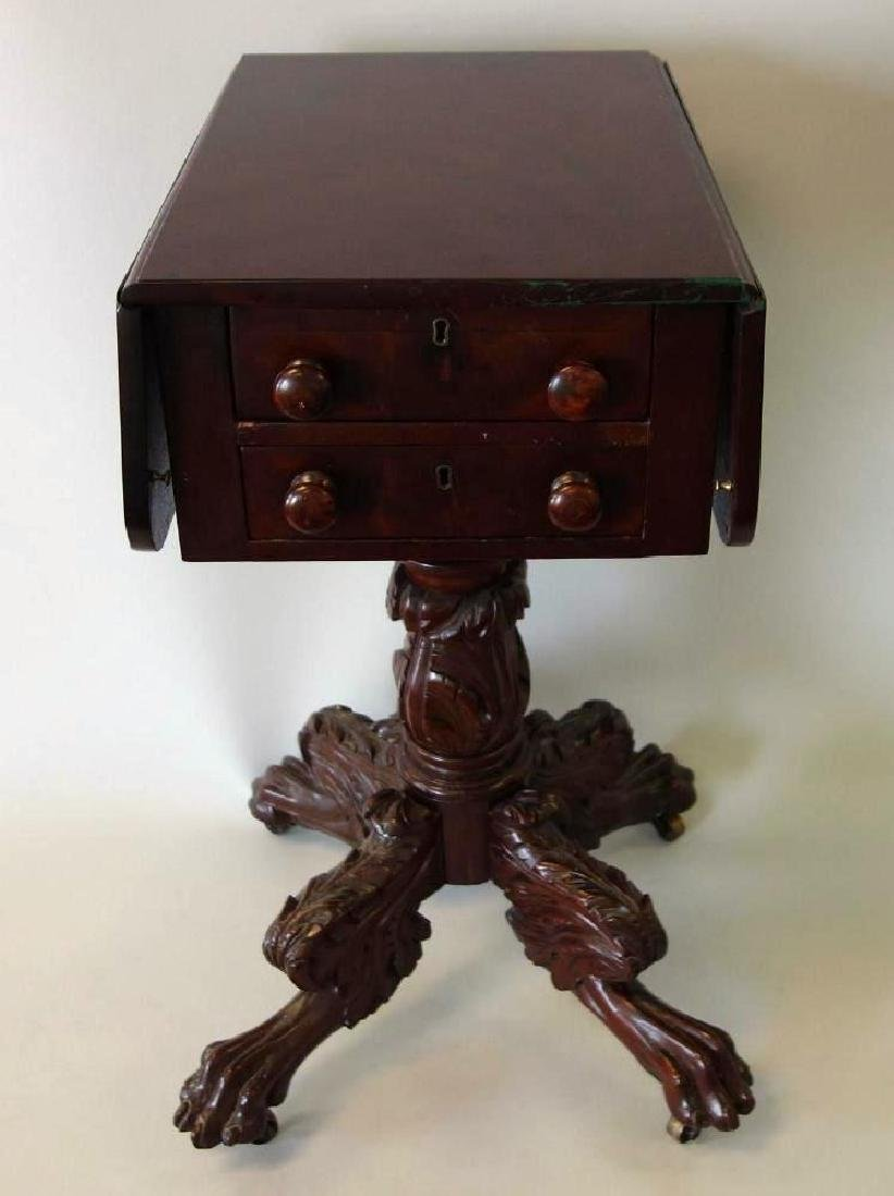 Federal 2 Drawer Mahogany Stand, c.1830, Signed - 4