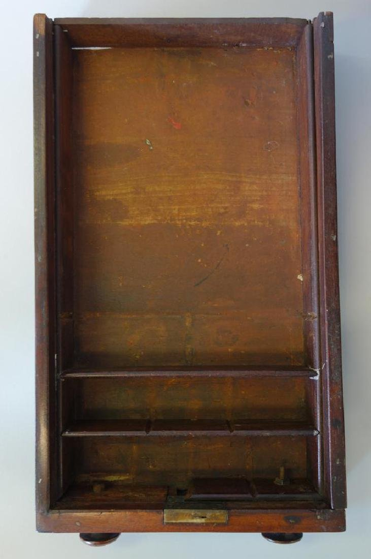 Federal 2 Drawer Mahogany Stand, c.1830, Signed - 6