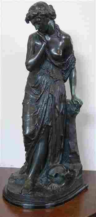 Emile Carlier (1849-1927) Bronze, La Cruche Cassee